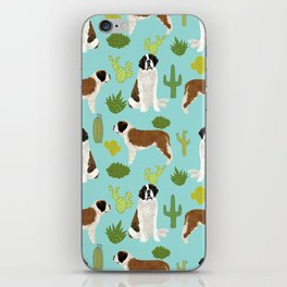 Saint Bernard dog breed pet friendly cactus southwest unique dog gifts iPhone Skin