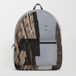 Two Towers, Bologna, Emilia Romagna, Italy, street photography, Torre degli Asinelli, italian city Backpack