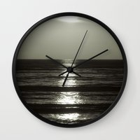 abyss Wall Clocks featuring Abyss by Monica Ortel ❖