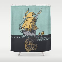 The Secrets of the Sea Shower Curtain