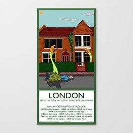 London - Travel Poster Canvas Print