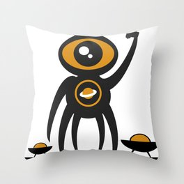 WE COME IN PEACE - Fuck You Human Race! (Poster 3) Throw Pillow