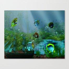 Fish Tank Aquarium Canvas Print
