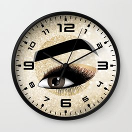 Gold Lashes Eye Wall Clock