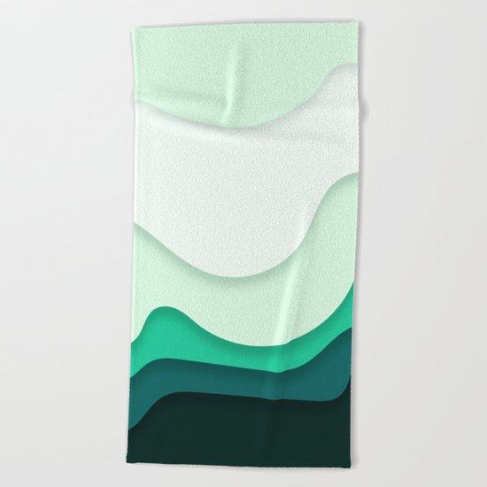 Pastel Waves Beach Towel