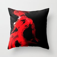 Machine Devil Throw Pillow