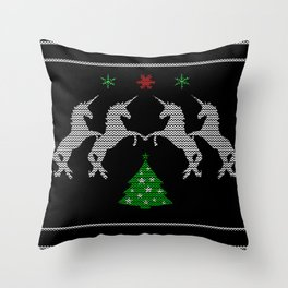 Unicorn Christmas Lover Throw Pillow