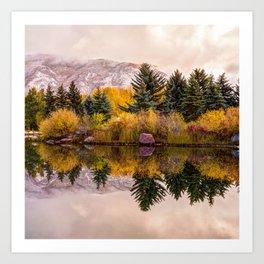 Perfect Reflections - Aspen Colorado Mountain Art Art Print