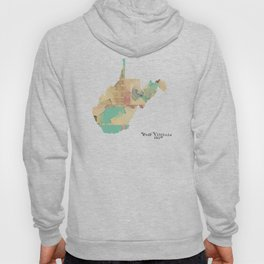 west virginia state map Hoody