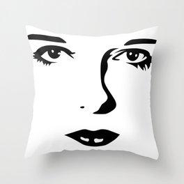 Silent Stars - Louise Brooks Throw Pillow