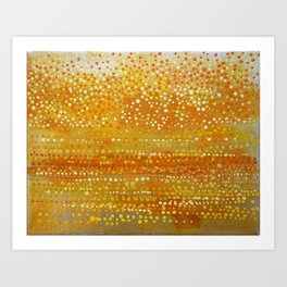 Landscape Dots - Orange Art Print