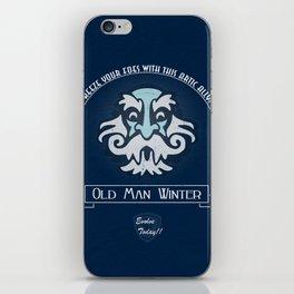 Old Man Winter Plasmid iPhone Skin