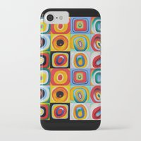 kandinsky iPhone & iPod Cases featuring Farbstudie Quardrate by Wassily Kandinsky by designforme
