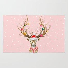 Christmas Deer 3 Rug