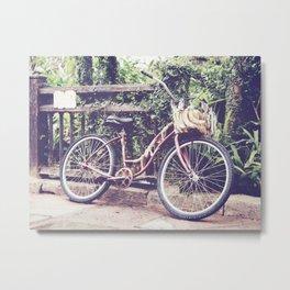 Banana Bike Metal Print