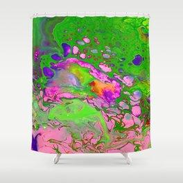 Green Acid Shower Curtain