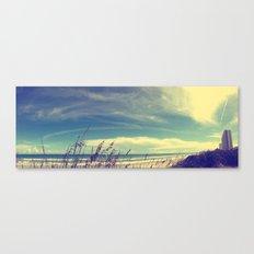 Panoramic Beach Shot Canvas Print