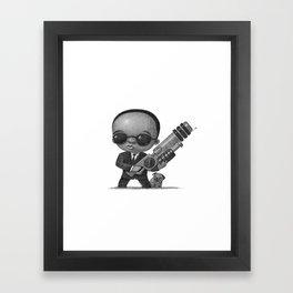 Lil Men In Black Framed Art Print
