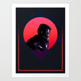 Star Lord 80's Charcter Poster Art Print
