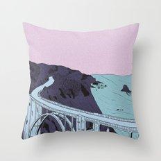 Brixie Creek Bridge Throw Pillow