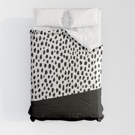 Dalmatian Spots with Black Stripe Comforters