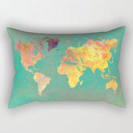 world map 103 #worldmap #map Rectangular Pillow