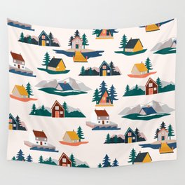 Let's stay here Wall Tapestry
