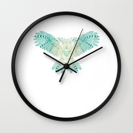 Owl Mandala Style Art Geometrical Abstract Gifts Costume Wall Clock