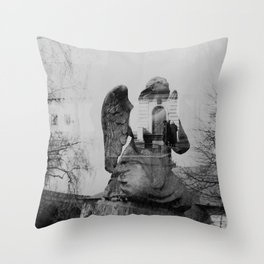 Angel. Novodevichy convent. Moscow. Throw Pillow