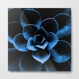 Dark Blue Succulent Plant #decor #society6 #homedecor Metal Print