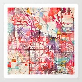 Calumet City map Illinois IL Art Print
