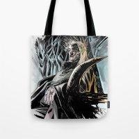 thranduil Tote Bags featuring Thranduil by Melo Monaco