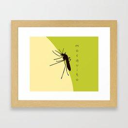 Biting mosquito print Framed Art Print