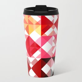 Mottled Red Poinsettia 2 Abstract Triangles 1 Travel Mug