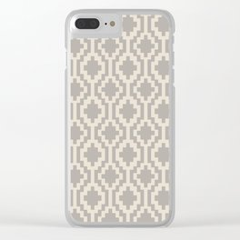 Mapuche Grey/Beige Clear iPhone Case
