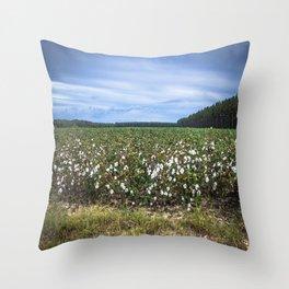 Cotton Fields  Throw Pillow