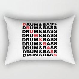 Drum & Bass List Rave Quote Rectangular Pillow