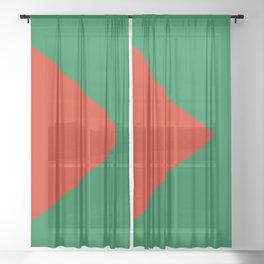 Flag of El Alto Sheer Curtain