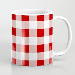 Red and White Check Coffee Mug