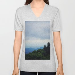 Summit At Brasstown Bald 2 Unisex V-Neck