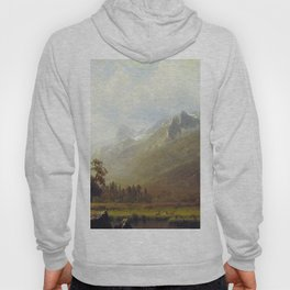 The Sierras Near Lake Tahoe 1865 By Albert Bierstadt | Reproduction Painting Hoody
