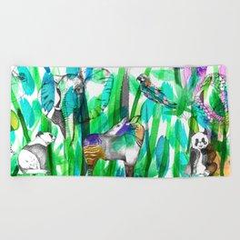 Jungle Green Beach Towel