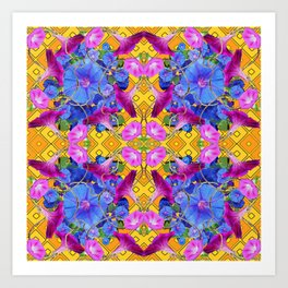 Contemporary  Purple Art Print