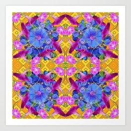 Contemporary  Purple Art Print
