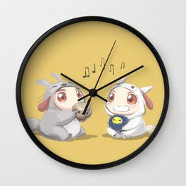 Kirugumi Pups Wall Clock