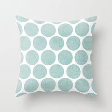 robins egg blue polka dots Throw Pillow