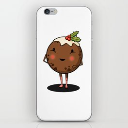Just Pudding it Out There - Merry Christmas iPhone Skin
