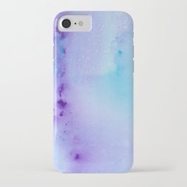 Philip Bowman Abstract Watercolor Art Blue And Purple Modern Painting iPhone Case