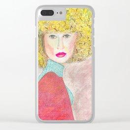 Woman Portrait no 5 Clear iPhone Case
