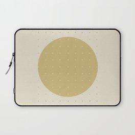 """Cream & Polka dots central circle pattern"" Laptop Sleeve"